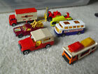 Lot of 7 Vintage 1970s Matchbox Superfast Vehicles with Transporter Airport Coac