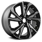 For Honda Civic 17 18 Alloy Factory Wheel 10 Spiral Spoke Black w Machined Face