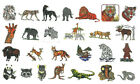 WILD ANIMALS 30 Embroidery Card for Brother Bern Deco Baby Lock pes
