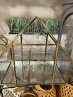 Glass House Container Terrarium for Succulent  Air Plant Gold  Decoration New