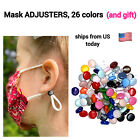 ROUND Cord Locks mask ADJUSTERS Elastic Cord Stopper Silicone Beads