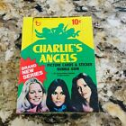 1977 Topps Charlie's Angels series 4 cards empty display box