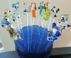 17 Glass Swizzle Stir Sticks Summer Barware Drink Cocktail Stirrers