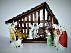 Deluxe Nativity Set Wooden Creche 11 Bisque Figures House Of Lloyd 54 252 IOB