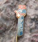 1976 Rare Classic Pez Club of Croatia Blue Cartoon Girl Duck Flower Pin Badge