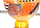 ECLECTIC CONTEMPORARY PIZZICHILLO ART GLASS VASE 16 TALL SIGNED