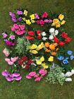 Artificial Flowers Mix X 20 BUNCHES Wholesale Job Lot To Clear