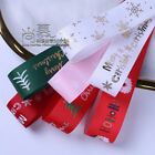 100 Yards 25mm Printed Christmas Grosgrain Ribbon For Gift Decoration Hair Bow