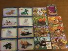 Lot of 16 Ty Beanie Baby Collector Cards; two with artist proof stamps