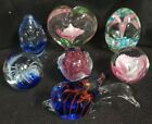 Estate Collection of Vintage Glass Paperweights Beautiful Patterns