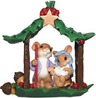 Roman Charming Tails Collection Holy Family Nativity Mice Figure 525 H