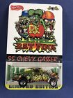 CUSTOM HOT WHEELS BIG DADDY ED ROTH RAT FINK 55 CHEVY GASSER real riders card 2