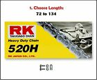 RK 520 HD Standard Non sealed Motorcycle Drive Chain Natural w Clip Master Link