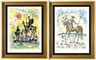 2 Don Quixote Signed Numbered Ltd Ed Prints Picasso  Salvador Dali unframed