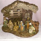 VTG 1960S CHRISTMAS NATIVITY SCENE CRECHE MADE IN ITALY