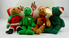Ty Beanie Babies Lot Of 4 Holiday Teddy Bears 1997 2001 2002 2003 Tags NEW(BB18)