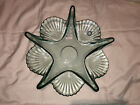 Recycled Ocean Starfish Spanish Art Recycled Glass Bowl Centerpiece Clam Shell
