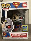 Funko POP! Superman Cyborg SSDCC 2020 Target Shared Exclusive Nm- M Box