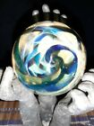 Large Contemporary Art Studio Blues Golds 2 Glass Marble by James Yaun