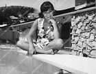 8b20 19097 Sally Field sitting on the diving board at home 8b20 19097