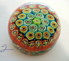 VINTAGE MADE IN ITALY MILLEFIORI PAPERWEIGHT ST LOUIS