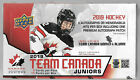 2019 UPPER DECK TEAM CANADA JUNIORS HOCKEY HOBBY BOX