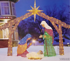 FABRIC MESH HOLY FAMILY NATIVITY 245 LED LIGHTS 57x69 DM