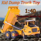 140 Diecast Alloy Construction Vehicle Kids Toy Engineering Car Dump Truck USA