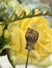 Antique Victorian Stick Pin GF Figural Hand Engraved Neat