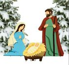 Christmas Decorations Nativity Scene Yard Decor Outdoor Garden Lawn Metal