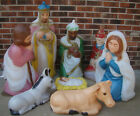 8 PC CHRISTMAS BLOW MOLD NATIVITY SET GENERAL FOAM