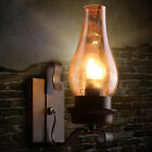 One Bulb Wall Light with Vase Shade Clear Glass Rustic Living Room Sconce Lights