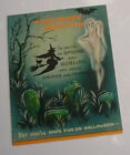 Rare 1960's HALLOWEEN Hallmark Paper Card Witch, Skeleton, Black Cat, Ghost, Bat