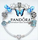 AUTHENTIC PANDORA BRACELET SILVER BANGLE LOVE BUTTERFLY HEART EUROPEAN CHARMS