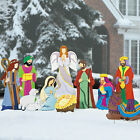 9 Set Nativity Scene Christmas Yard Decoration Animals 3 Kings Jesus Mary Joseph