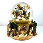 Large Musical Water Snow Globe Revolving Base Christmas Nativity Scene SEE VIDEO
