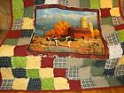 Fall on the Farm large Panel Rag QuiltLarge and Warm