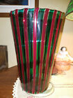 Murano Glass Gio Ponti Venini A Canne Cane Polychrome Tall Art Vase Italy 90