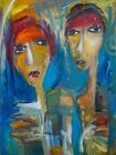 Large Original Portrait Art Painting on Stretched Canvas 24 x 18
