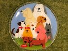 Handmade Fused Glass Serving Plate Featuring Dogs 11 Serving Plate