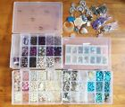 Huge Gemstone Beads Jewelry Making Craft Lot in 4 Organizers SOME NEW