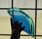 Murano Glass Dish Blue Teal Venetian
