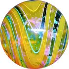 Hot House Art Glass Marble Handmade WIG WIG Dichroic 145 Signed + Metal Stand