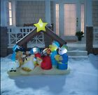 Inflated Christmas Decorations Light Up Nativity Scene Outdoor Garden Yard