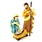 PartyLite Heirloom Nativity Figurines Set 4 Pieces Christmas Brocade P9100S