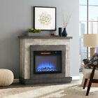 28Inch Electric Fireplace LED Flame Red Brick Effect Inset Wall Heater w Remote