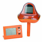 Pool Central Orange Wireless Digital Pool Thermometer w Receiver Station