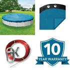 Econo Mesh 24 Ft Round Blue Mesh Above Ground Winter Pool Cover