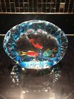 MURANO Art Glass AQUARIUM fish Hand Blown Paperweight
