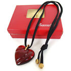 Authentic Baccarat Crystal heart Necklace Baccarat crystal glassUsed